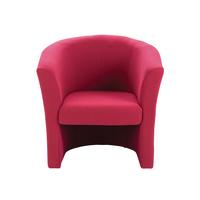 FF Jemini Tub Fabric Chair Claret