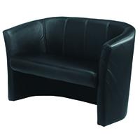 FF Jemini Tub 2 Seat Chair Black