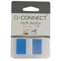 Q-Connect Blue 1 inch Page Marker Pk50