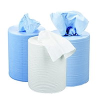 2Work Centrefeed White Roll 2 Ply Pk6