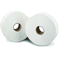 2Work Jumbo Toilet Roll 2 Ply Pk12