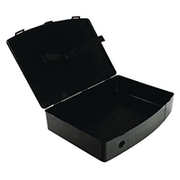 Q-Connect Black Foolscap Poly Box File
