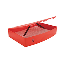 Q-Connect Foolscap Poly Red Box File