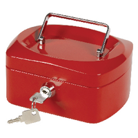Q-Connect Red 6 Inch Cash Box