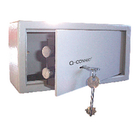 Q-Connect Key-Operated Safe 6L