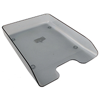 Q-Connect Smoke Executive Letter Tray