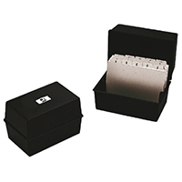 Q-Connect 5x3in Black Card Index Box
