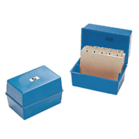 Q-Connect 5x3in Blue Card Index Box