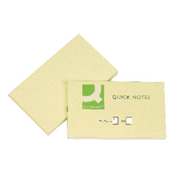 Q-Connect Yellow 76x127 Quick Notes Pk12