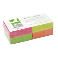 Q-Connect Neon Quick Note 76x76mm Pk12