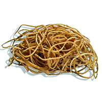 Q-Connect No.19 Rubber Bands 500gm Pack