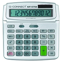 Q-Connect Large Table Top 12Dig Calc