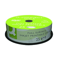 Q-Connect Inkjet Print DVD-R Spindle P25