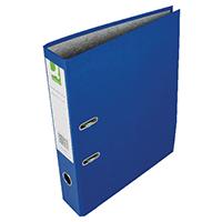 Q-Connect Blue Lever Arch Paper/Bkd Pk10