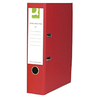 Q-Connect Red FC Ppr/Brd Lever Arch Pk10