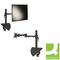 Q-Connect Flat Screen Monitor Arm Dual