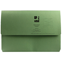 Q-Connect Green Doc Wallet 285g Pk50