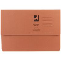 Q-Connect Orange Doc Wallet 285g Pk50