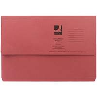 Q-Connect Red Document Wallet 285g Pk50