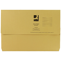 Q-Connect Yellow Doc Wallet 285g Pk50