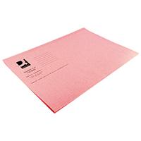 Q-Connect Pink Sq Cut Folder 180gm Pk100