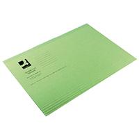 Q-Connect Green Sq Cut Folder 180g Pk100