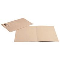 Q-Connect Buff Sq Cut Folder 180gm Pk100