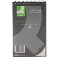 Q-Connect Shorthand Notebook 80Lf Pk20