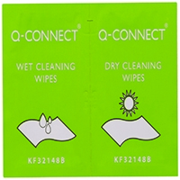 Q-Connect Wet and Dry Wipes Pk20