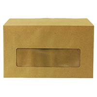 Q-Connect 89x152mm Cntr/Window Envelopes