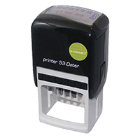 Q-Connect Custom Date Self-Inking Stamp