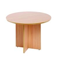 FF Arista Round Meeting Table Beech