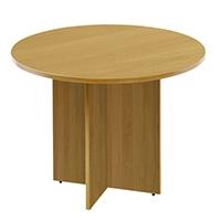 FF Arista Round Meeting Table Oak
