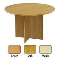 FF Arista Round Meeting Table Maple