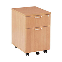 FF Jemini 2 Drawer Mobile Ped Beech