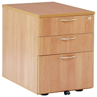 FF Jemini 3 Drawer Under-Desk Ped Beech