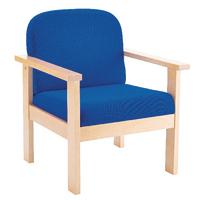 FF Arista Reception Wood Armchair Blue