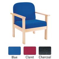 FF Arista Reception Wood Armchair Claret