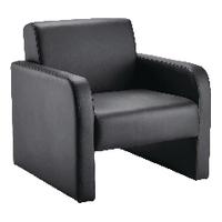 FF Arista Reception Chair Flat Pk Blk Pu