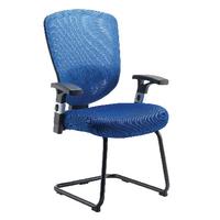 FF Arista Mesh Visitors Chair Blue