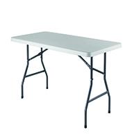 FF Jemini 1520mm Folding Rect Table Whit