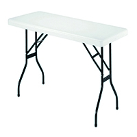 FF Jemini 1830mm Folding Rect Table Whit