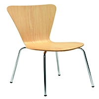 FF Arista Picasso Wood Chair Bch/Sil Pk4