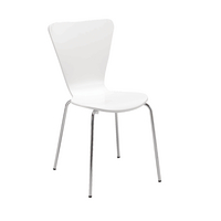 FF White Bistro Chair Pack 4