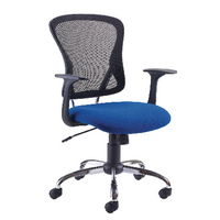 FR FIRST CONTEMP MESH CHAIR BLUE BLACK