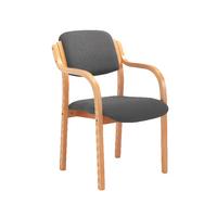 FF Jemini Char Wood Frame Arm Chair