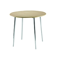 FF Arista Round Bistro Table Bch/Chrome