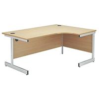 Jemini Beech 1200mm Cantilever R/H Desk