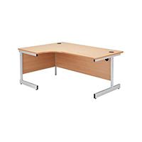 Jemini Beech 1600mm Cantilever L/H Desk