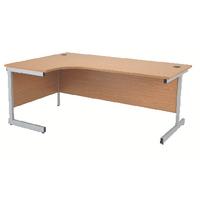Jemini Oak 1600mm Cantilever L/H Desk